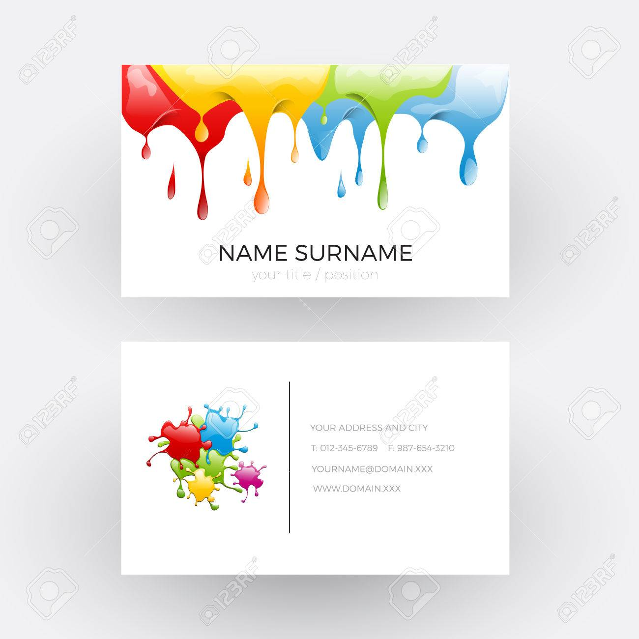 Vector abstract design concept of painter business card royalty vector vector abstract design concept of painter business card colourmoves