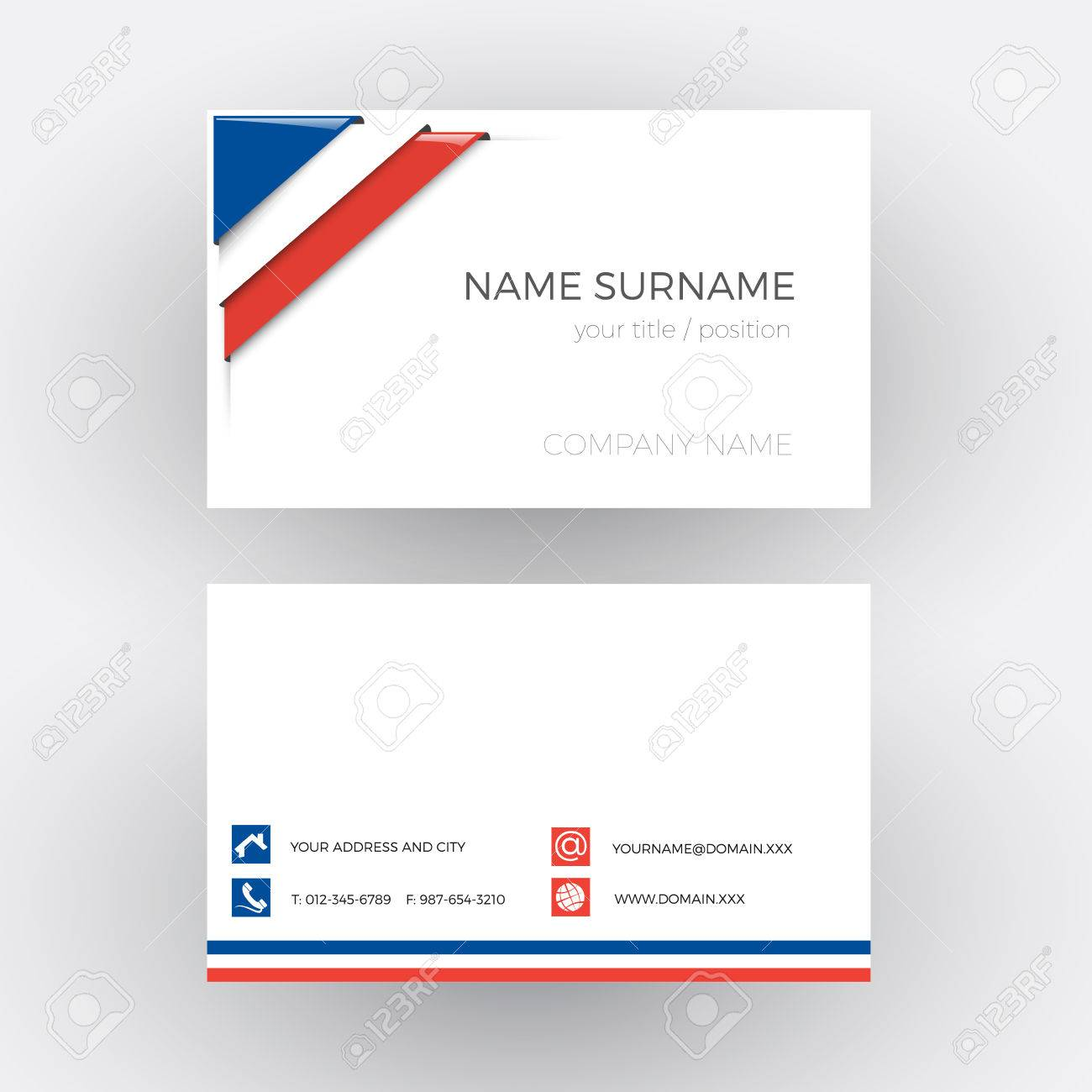 Vector abstract corner with french flag business card royalty free vector vector abstract corner with french flag business card colourmoves