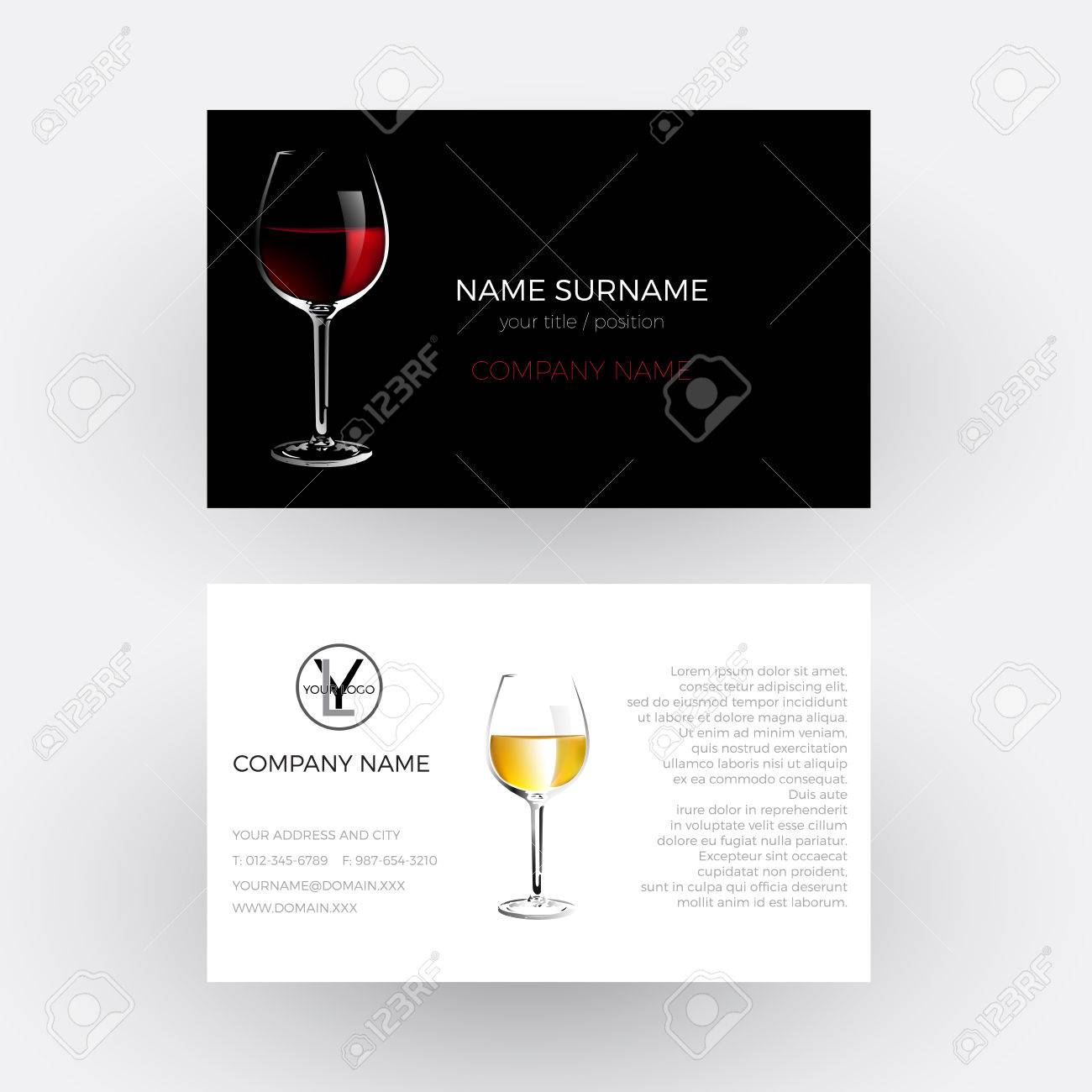 Vector Abstract Glass Of Red Wine, Concept Of Vinery And Wine ...