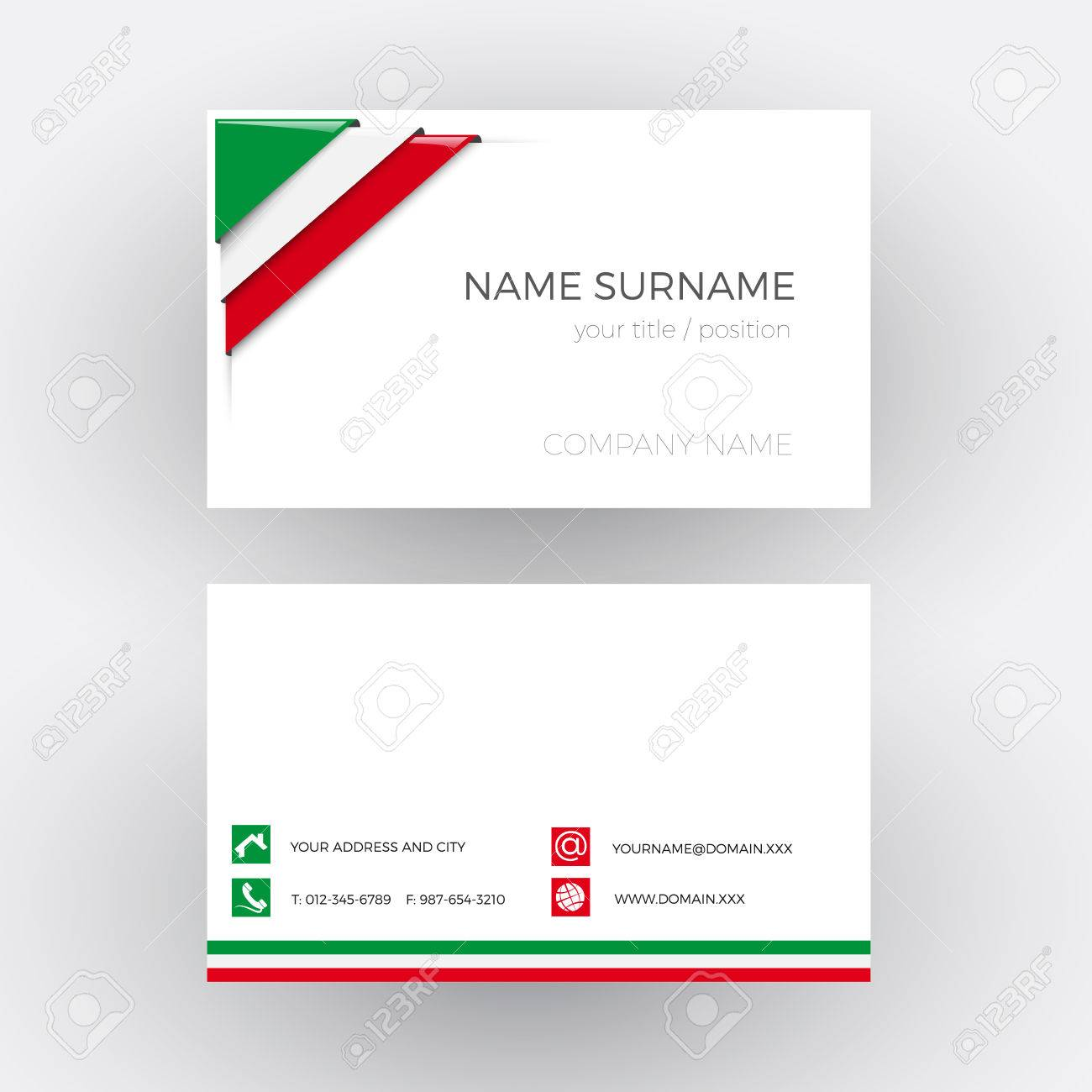 Vector abstract corner with italian and mexican flag business vector vector abstract corner with italian and mexican flag business card colourmoves