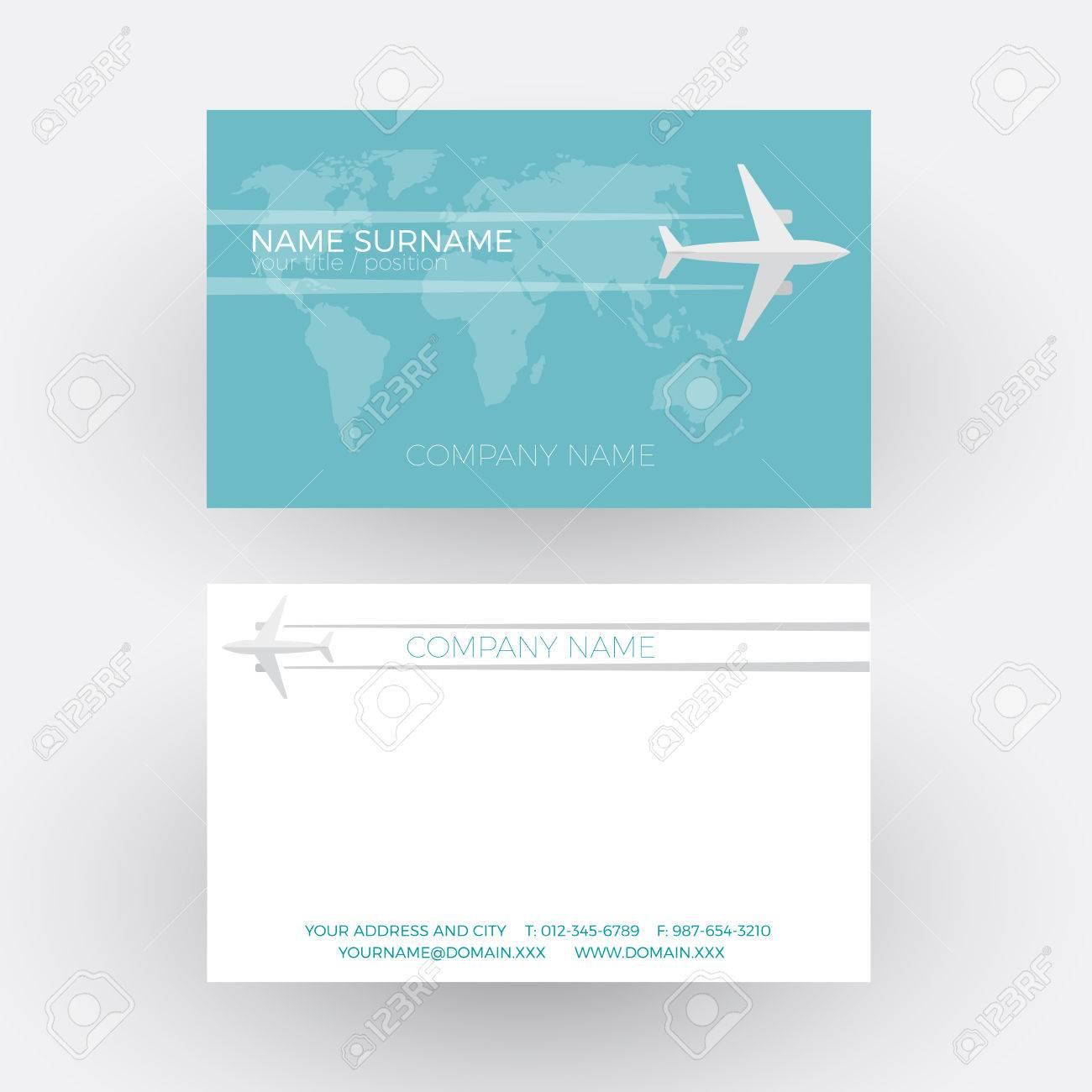 Fond De Vecteur Voyage Aerien Avion Voler Sur Le Monde Carte