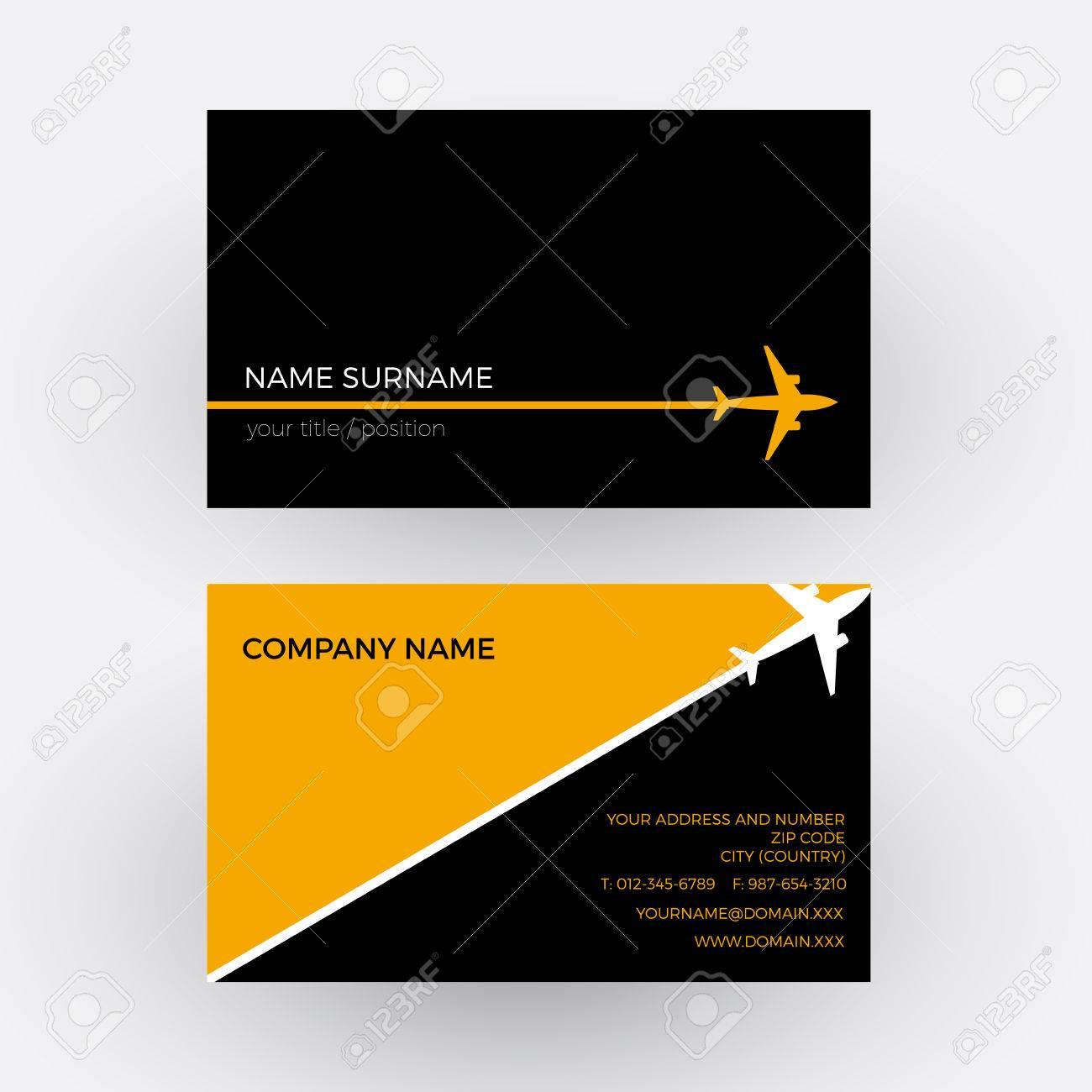 Vector air travel background black and orange business card royalty vector vector air travel background black and orange business card colourmoves