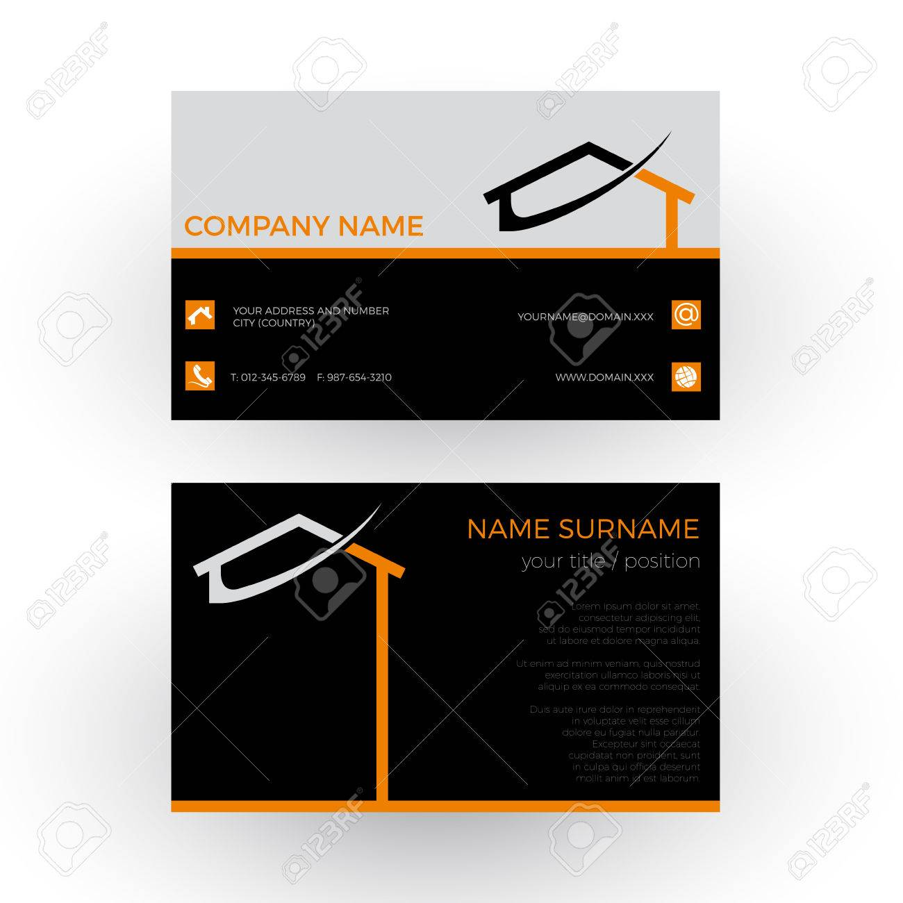 Abstract House, Concept Of Builder. Business Card Royalty Free ...