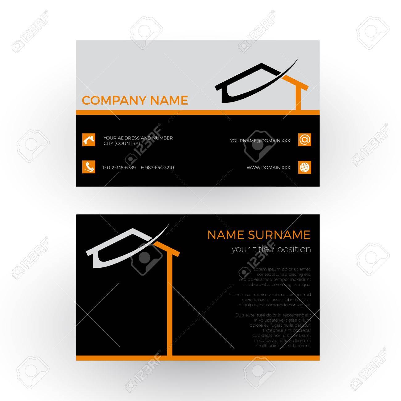 Maison Rsum Concept Du Constructeur Carte De Visite Banque Dimages