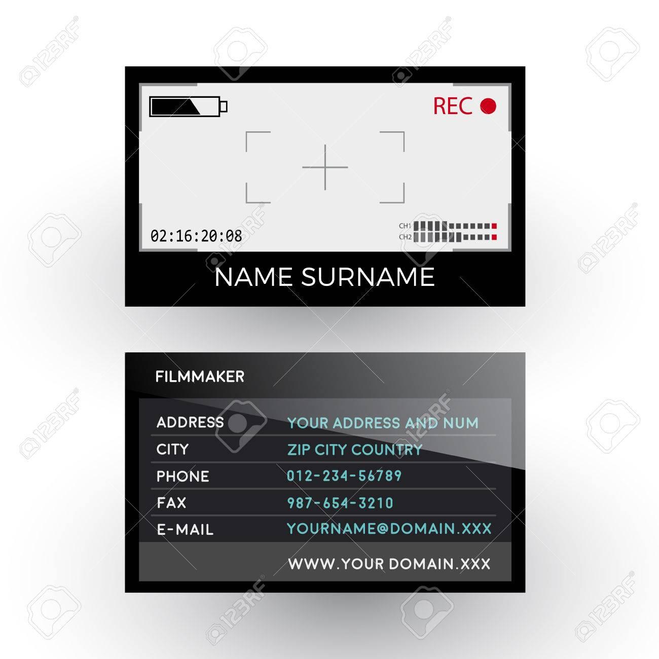 Excellent Videographer Business Card Images - Business Card Ideas ...