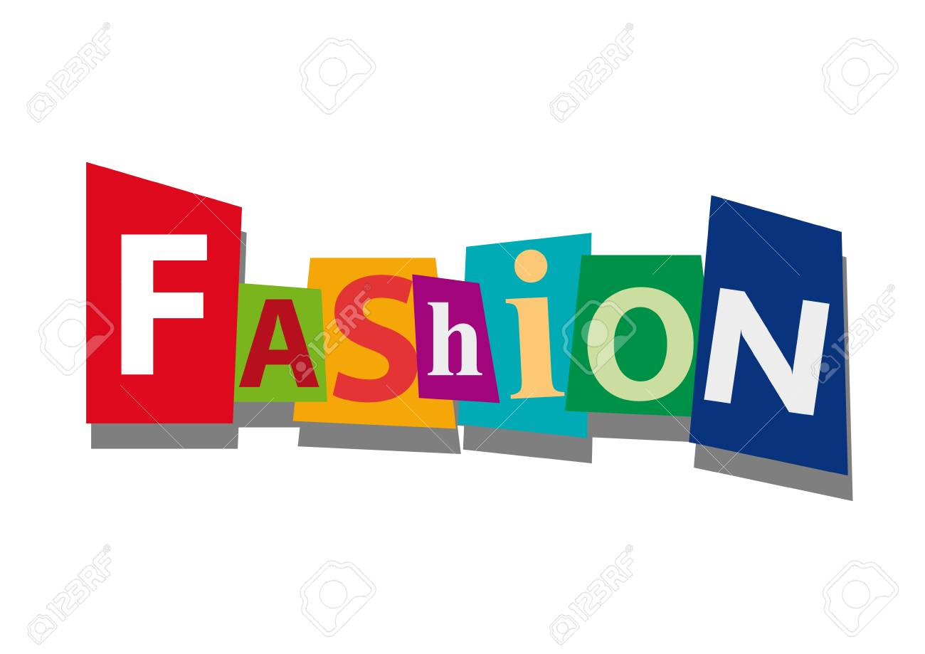 Fashion, Word And Text Cut From Paper, In Flat Design Royalty Free ...