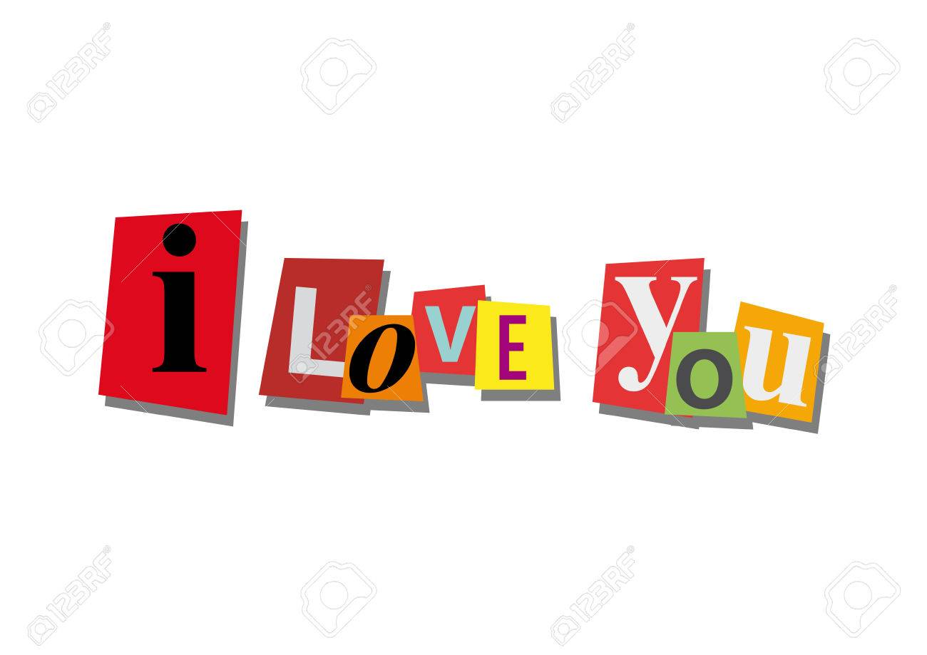I love you word and text cut from paper in flat design royalty i love you word and text cut from paper in flat design stock vector buycottarizona