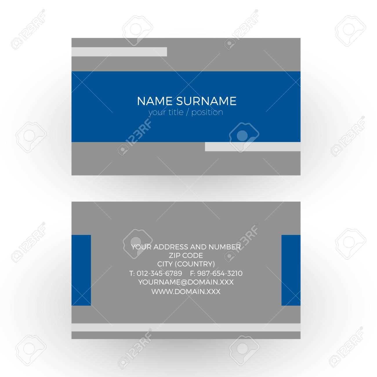 Vector Fond Bleu Geometrique Minimal Avec Du Ruban Adhesif Carte De