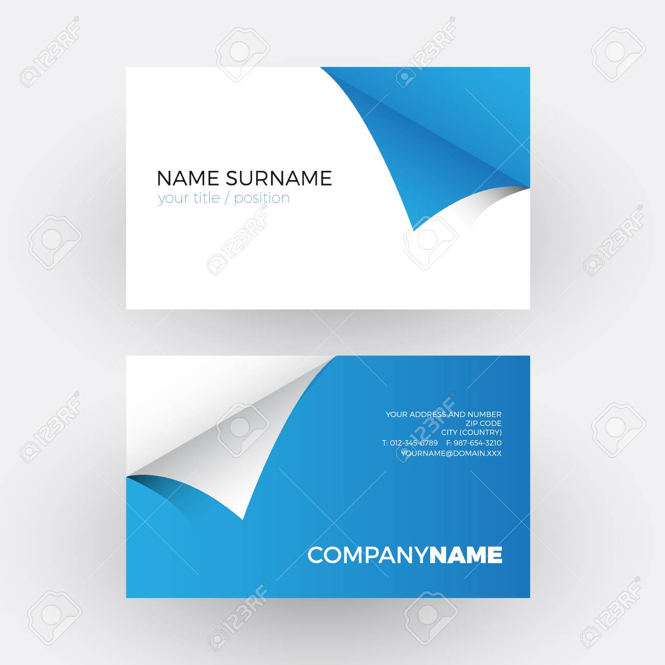 Vector abstract adhesive and sticky blue professional business vector vector abstract adhesive and sticky blue professional business card colourmoves