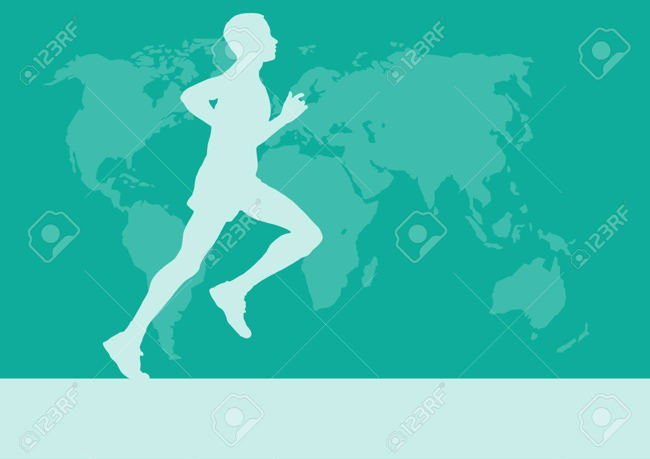 Runner in the world map vector poster background royalty free runner in the world map vector poster background stock vector 82874214 gumiabroncs Choice Image