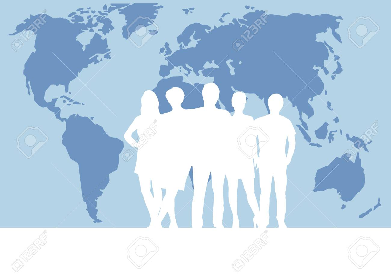People on world map vector poster and background teamwork and people on world map vector poster and background teamwork and business concept stock vector gumiabroncs Images
