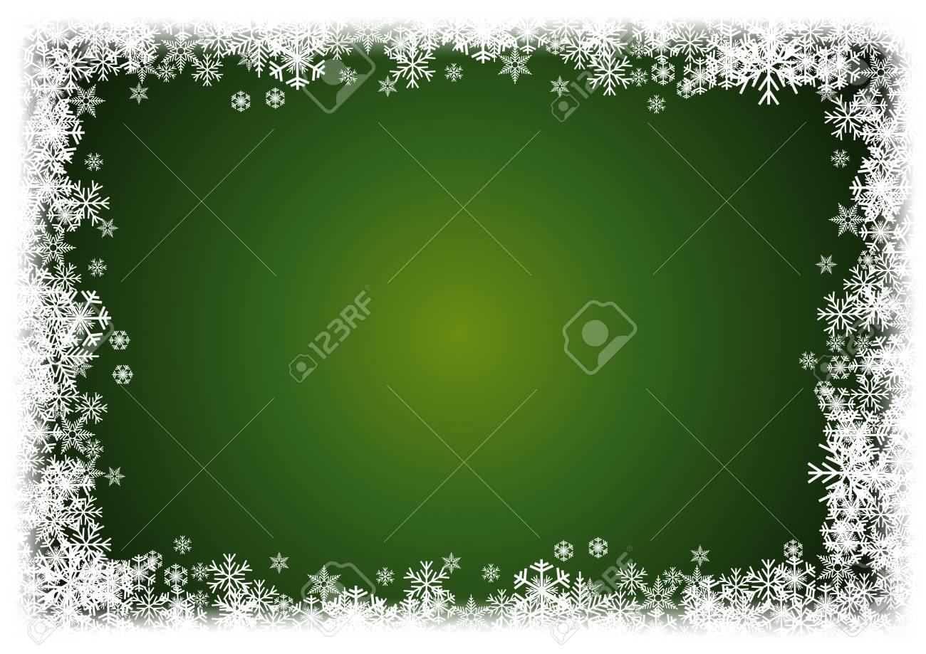 3de73e08fb37 A Cold Christmas. Frame Made Of Snowfall And Ice Crystals Royalty ...