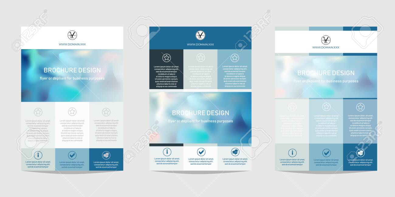 Design Template For Brochure Flyer Or Depliant For Business