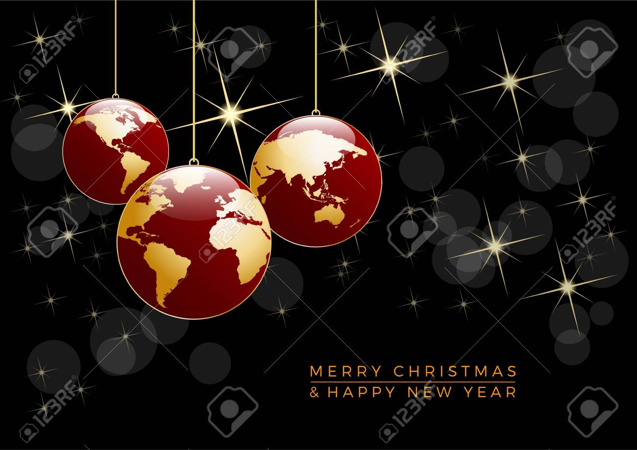 Christmas tree, vector postcard in black. - 134357106