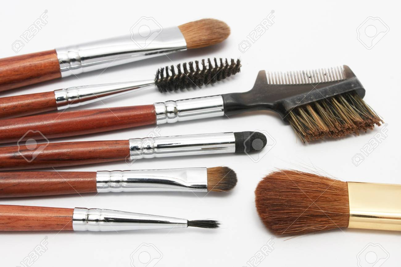 Many different size blusher on white background. Stock Photo - 3202291