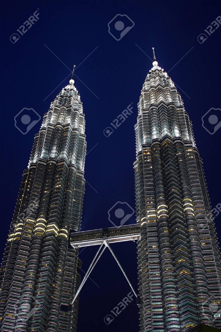 Night scene of Twin Tower, Kuala Lumpur, Malaysia. - 3485559