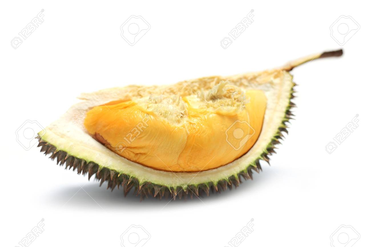 A durians piece isolated on white background. - 7467303