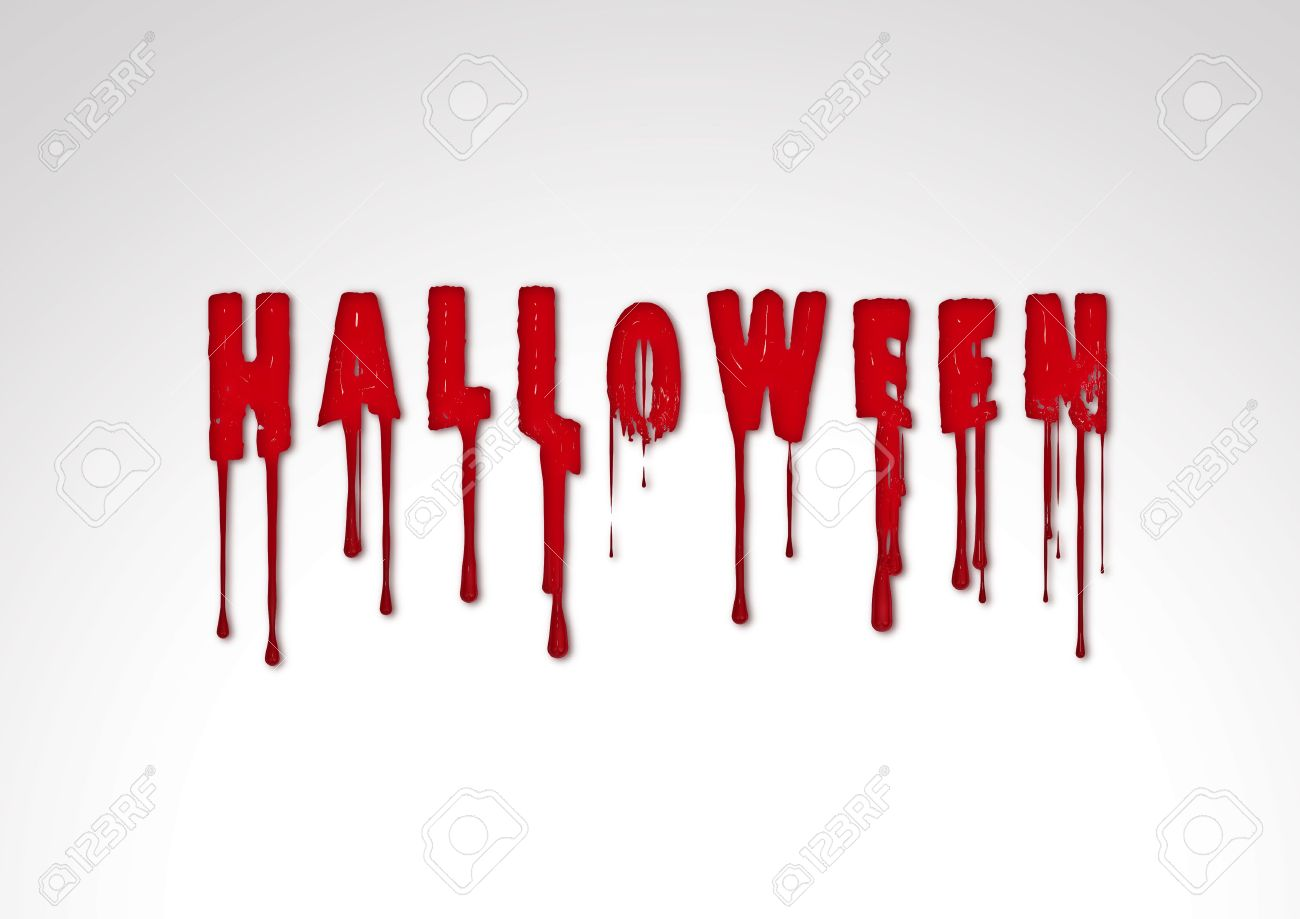 inscription halloween text horror illustration silhouette blood stock illustration 7848899 - Blood For Halloween