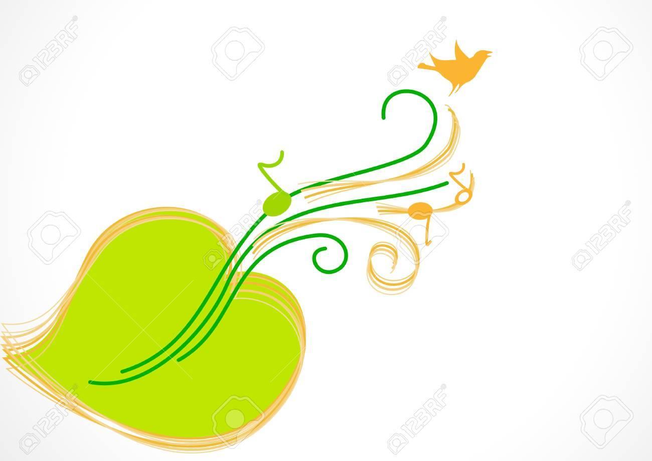 Green Sheet Music, Guitar, Bird Royalty Free Cliparts