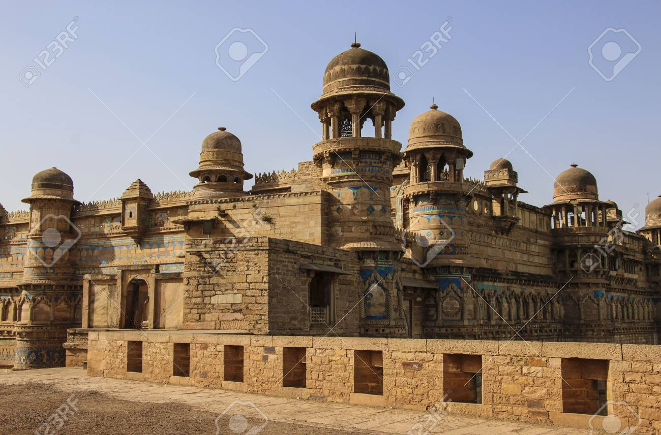 Gwalior Fort In Madhya Pradesh India Banque Dimages Et Photos