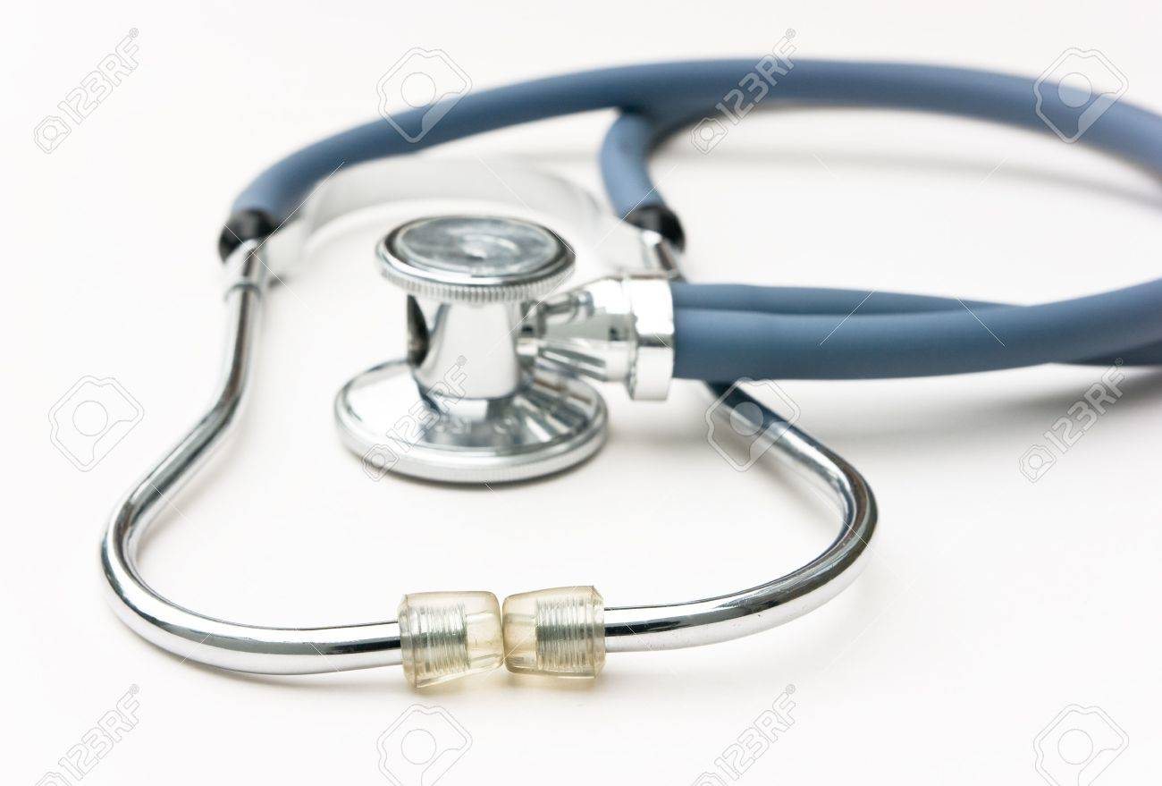 stethoscope is an acoustic medical device for auscultation - 7730326