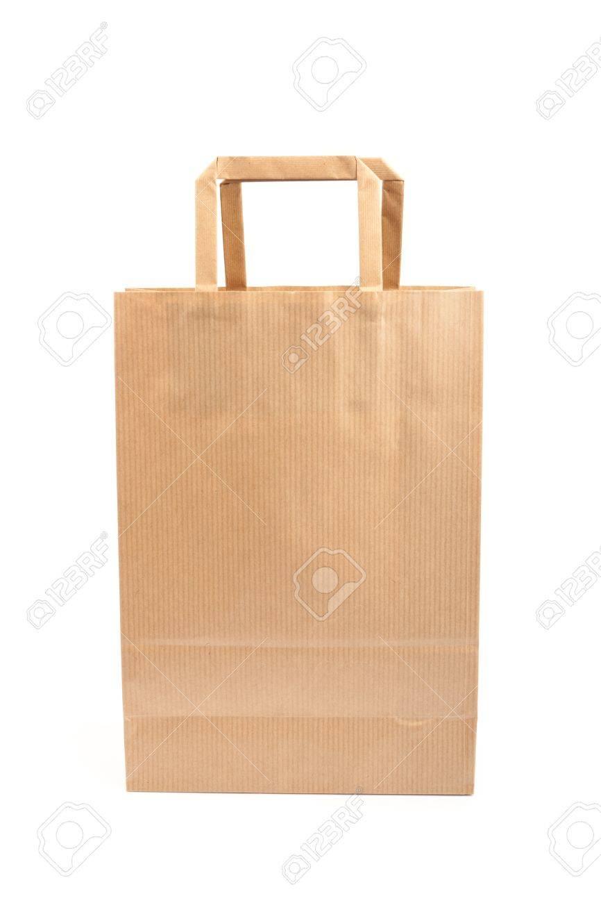 Paper bag on white background. Consumerism symbol. Stock Photo - 14127735