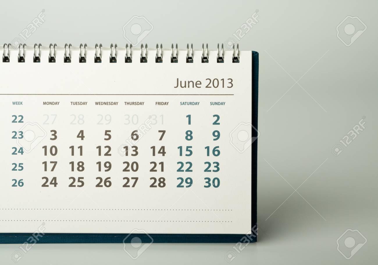 June. Calendar sheet. 2013 year calendar Stock Photo - 17778400