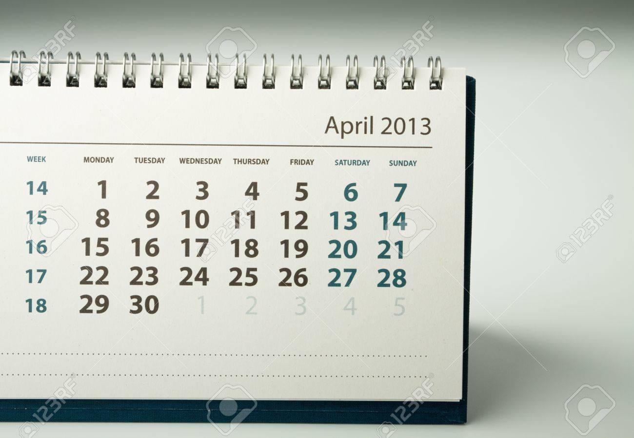 April. Calendar sheet. 2013 year calendar Stock Photo - 17778410