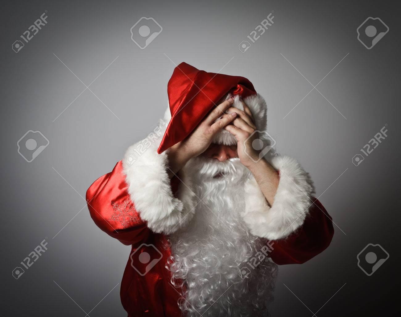 50677872-Frustrated-Santa-Claus-Santa-Cl