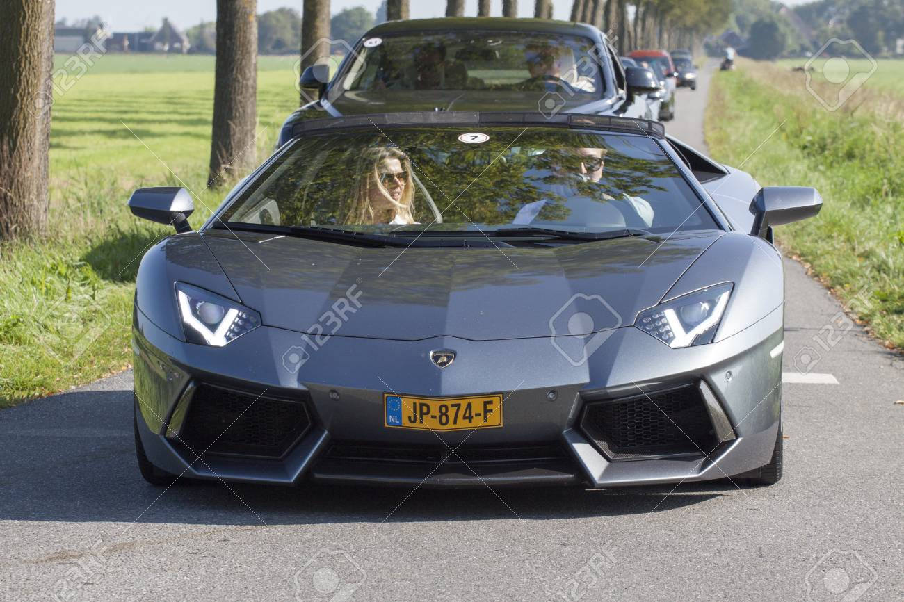 Wadway The Netherlands August 27 2017 Lamborghini Aventador