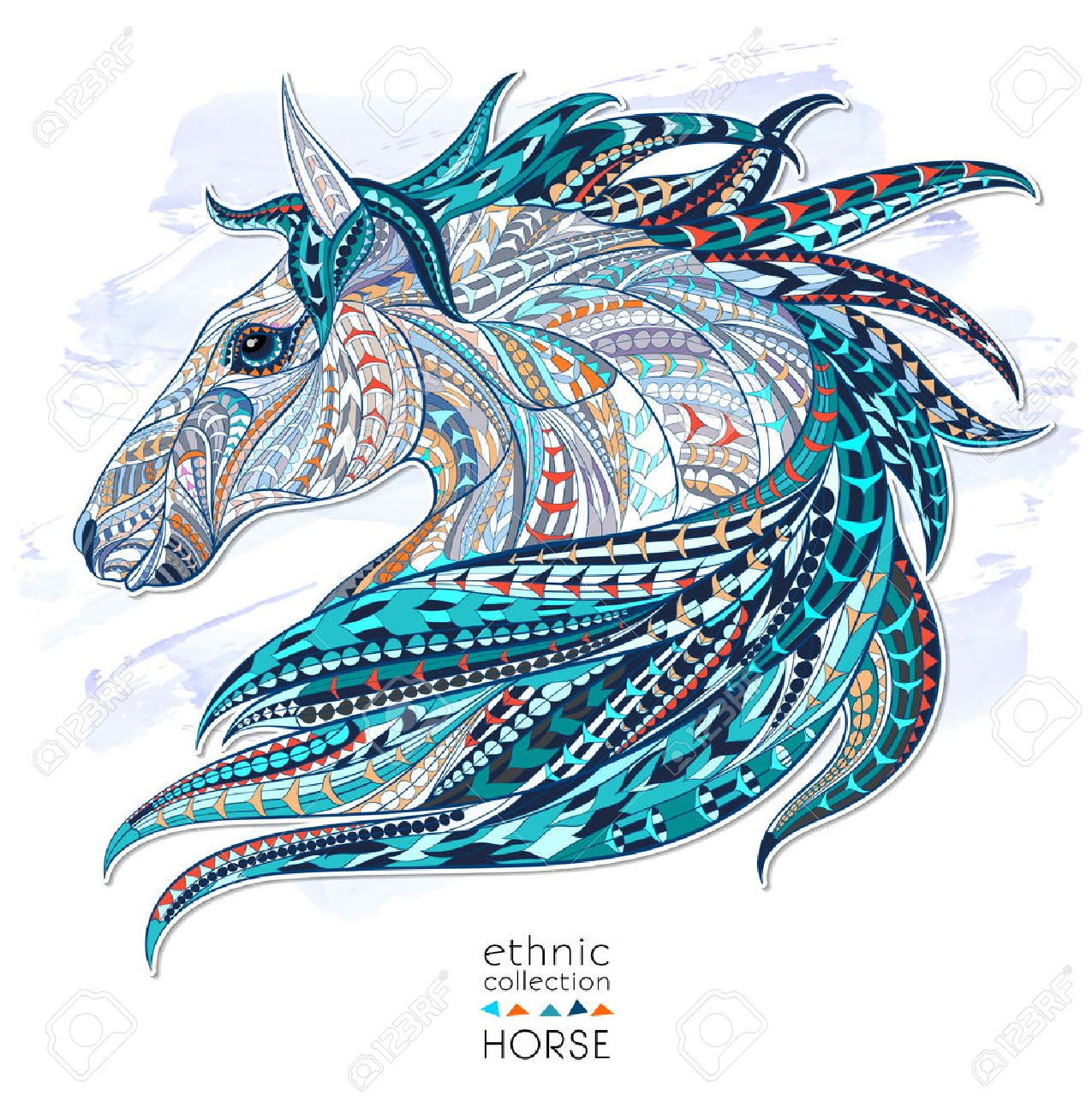 Patterned Head Of The Horse On The Grunge Background African Royalty Free Cliparts Vectors And Stock Illustration Image 44180756