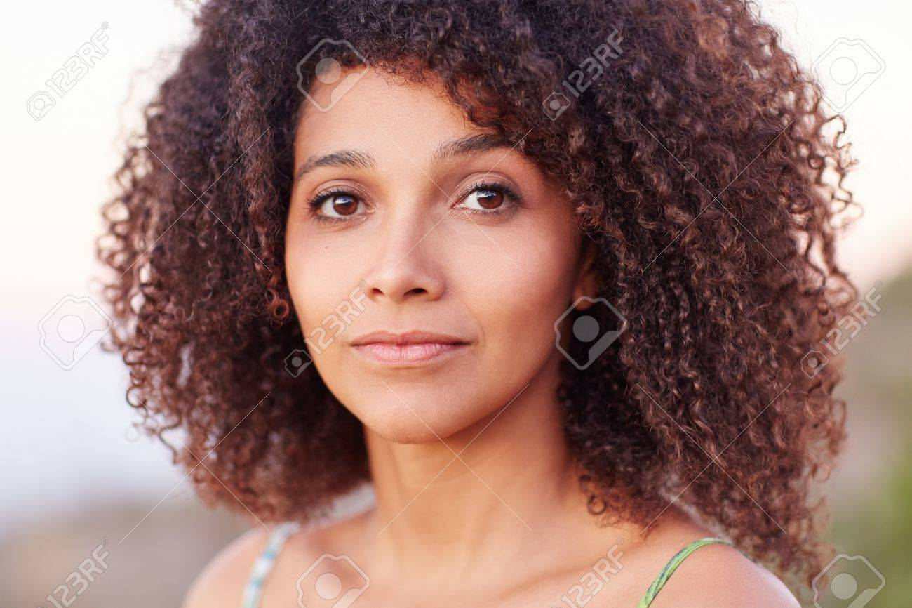 Closeup And Intimate Portrait Of A Beautiful Mixed Race Woman Stock Photo Picture And Royalty Free Image Image 51356047