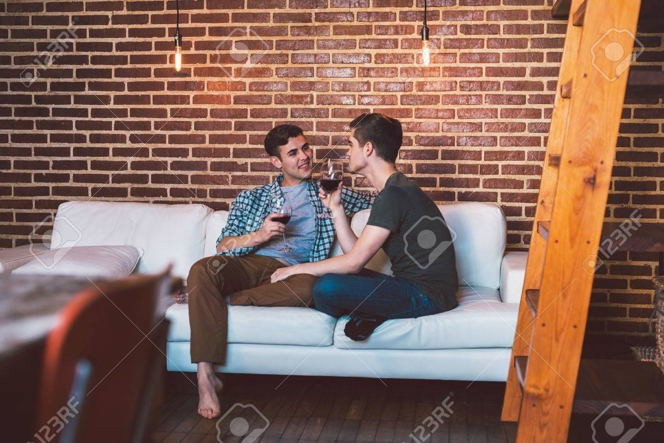 Gay couple home video