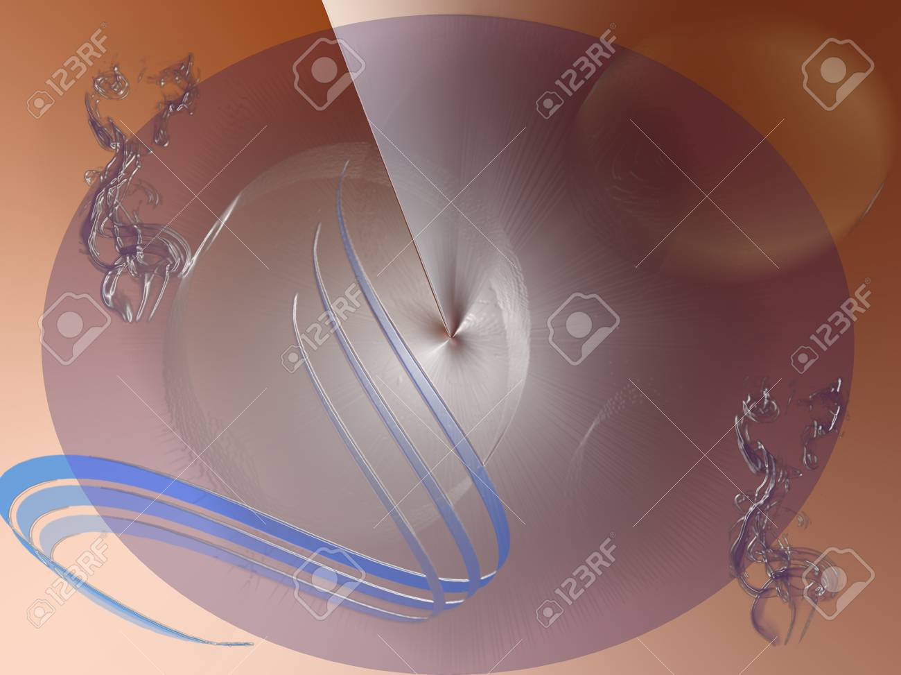 Flames on abstract background Stock Photo - 12378392