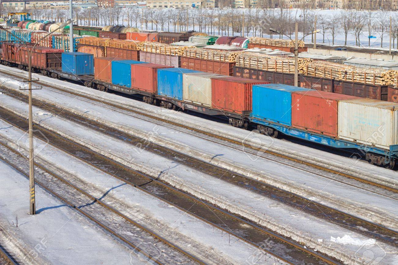 Freight Cars Stock Photo - 9139637