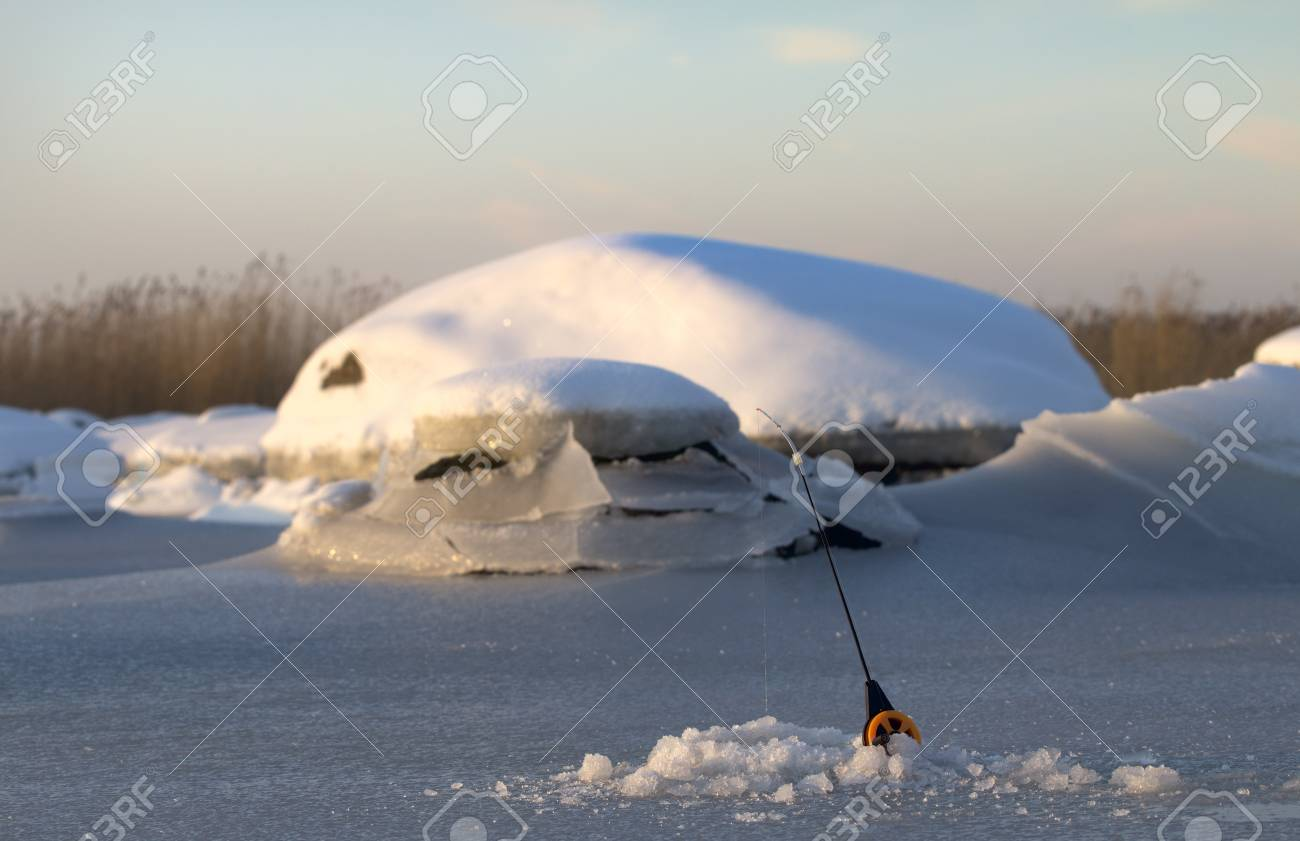 first days of winter fishing of this year Stock Photo - 16855865