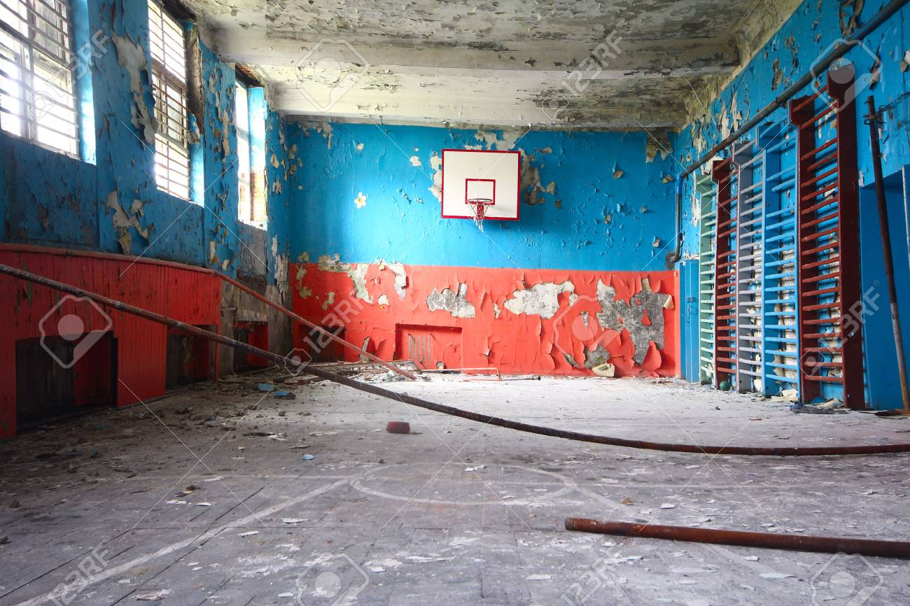 basketball and gym at thrown school - 36507997