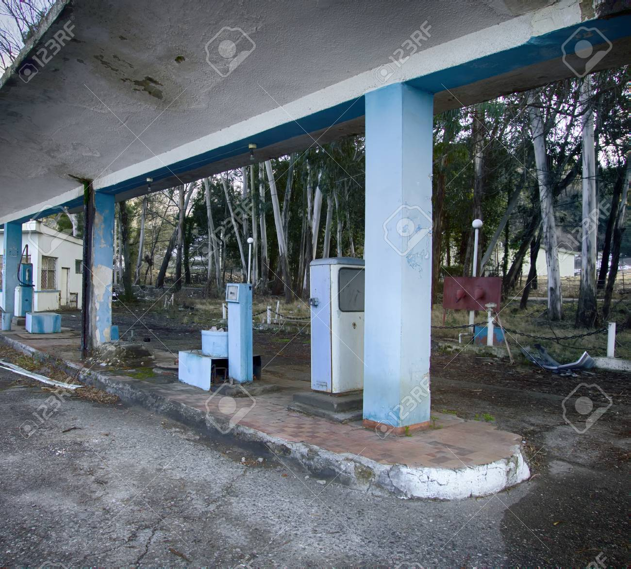 Old Abandoned Filling Station Fuel Station Gas Station On Secondary Stock Photo Picture And Royalty Free Image Image 93191718