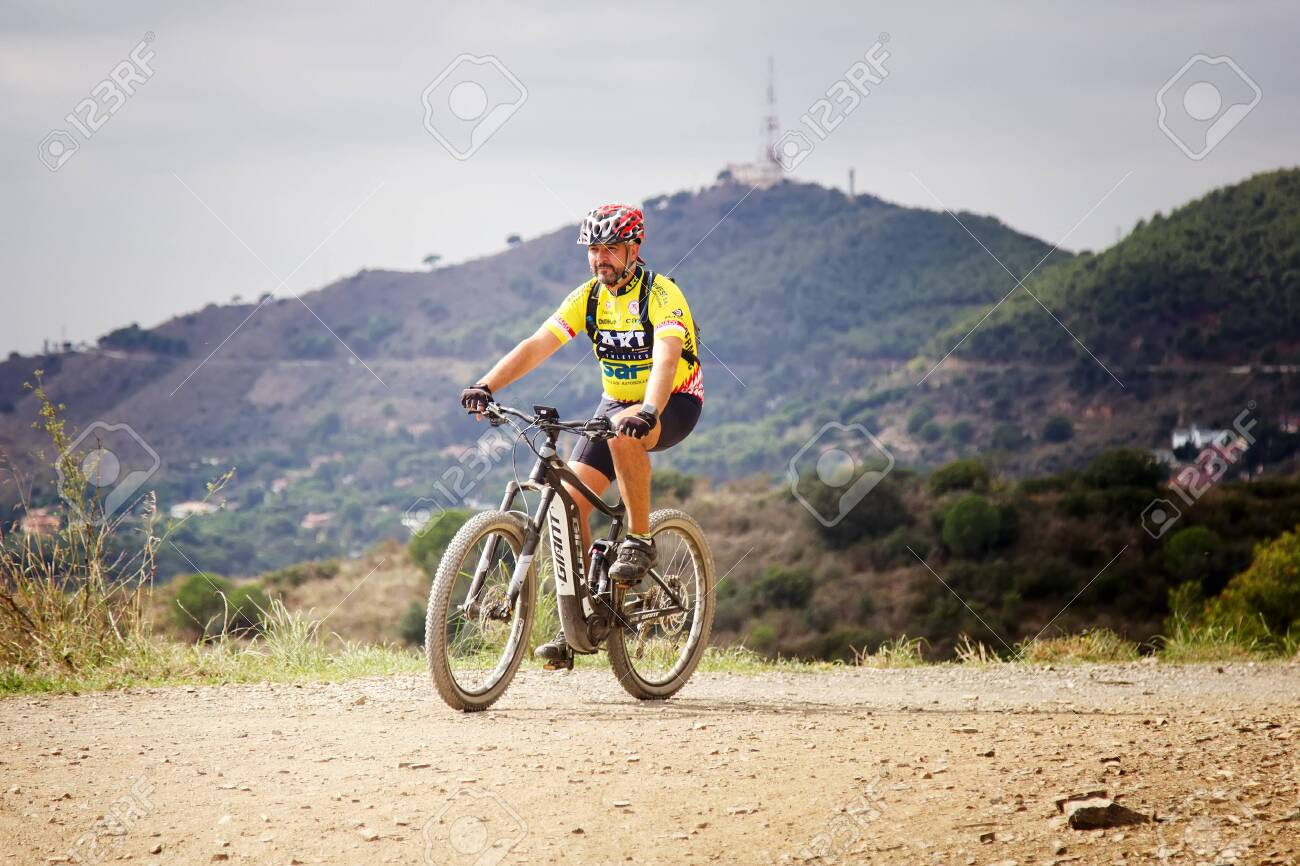 Spain Barcelona October 7 2017 Bike Ride With City View Stock Photo Picture And Royalty Free Image Image 130822469