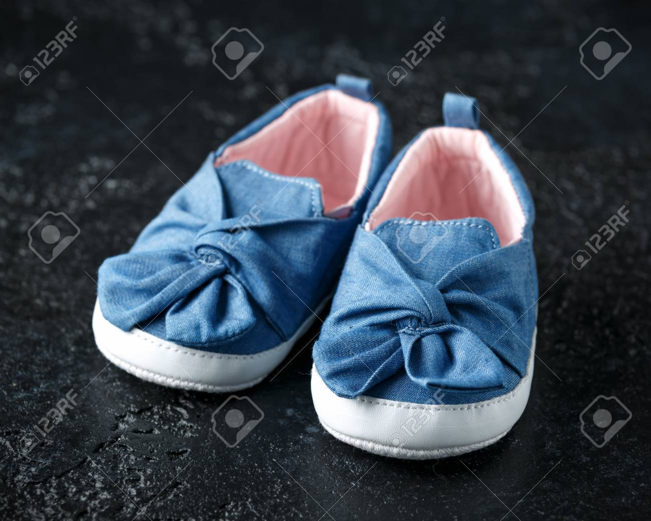 Baby Girl First Blue Denim Shoes With