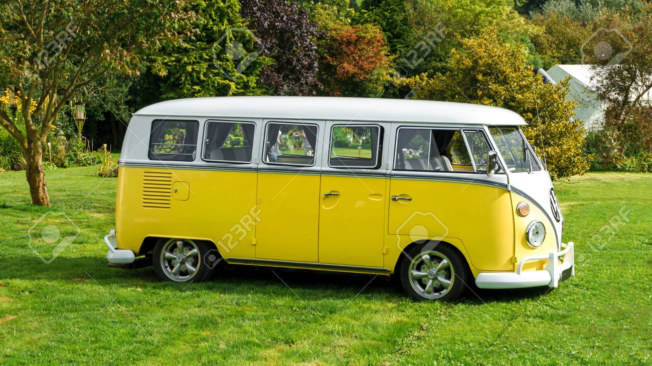 Classic Vintage Yellow Volkswagen Transporter Camper Van Parked Stock Photo Picture And Royalty Free Image Image 124998901