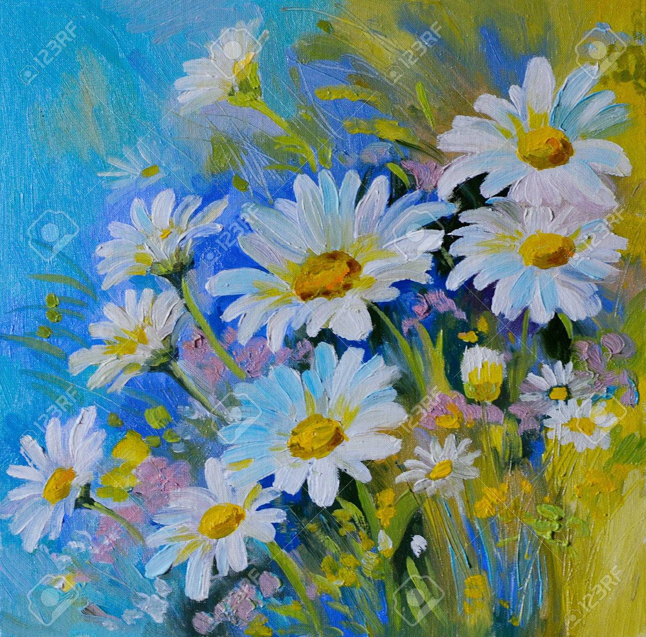 Oil painting abstract illustration of flowers daisies greens oil painting abstract illustration of flowers daisies greens spring stock illustration izmirmasajfo Gallery
