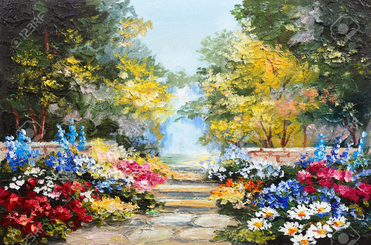 Peinture à L'huile Paysage - Forêt Coloré