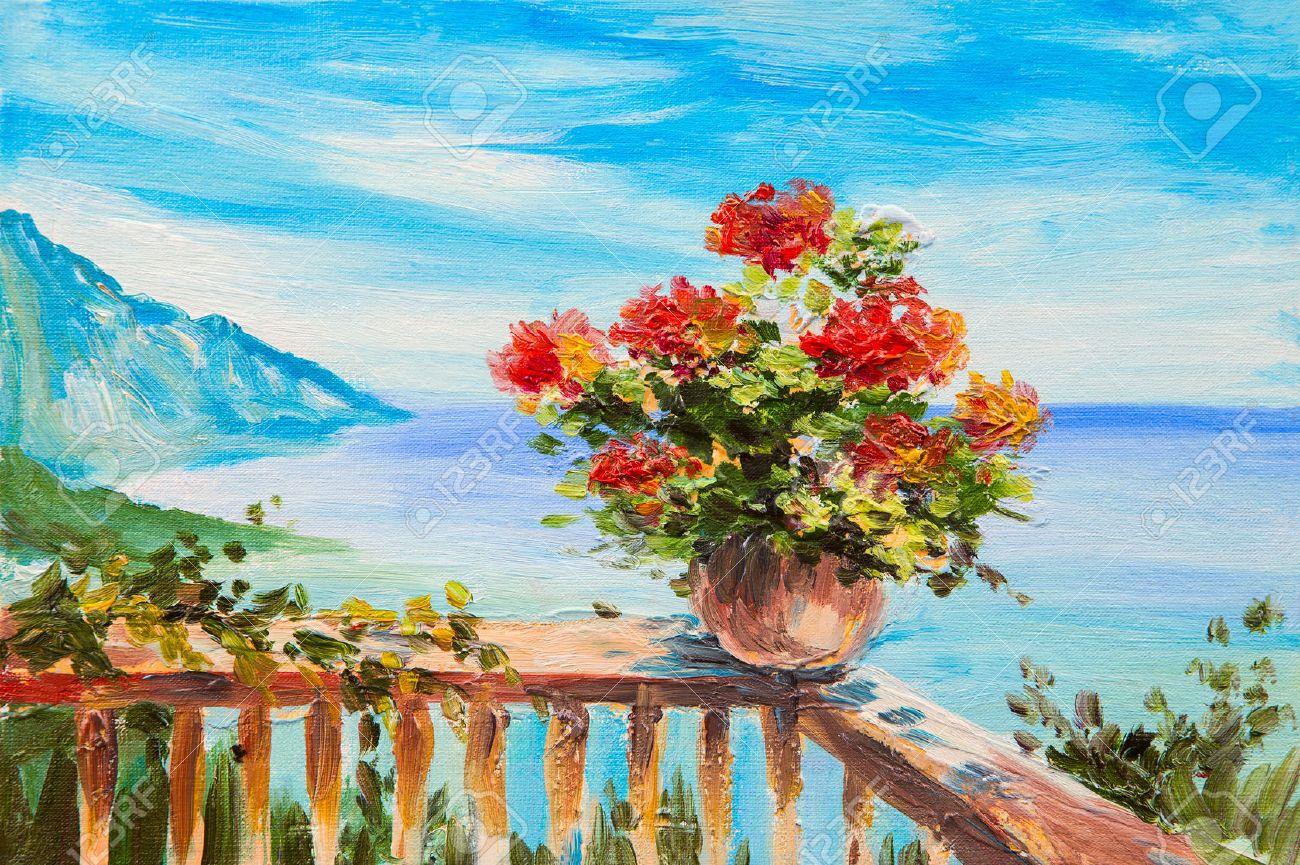 https://previews.123rf.com/images/max5799/max57991508/max5799150800006/44259458-Pittura-a-olio-di-paesaggio-bouquet-di-fiori-sullo-sfondo-del-Mediterraneo-oast-vicino-alle-montagne-Archivio-Fotografico.jpg