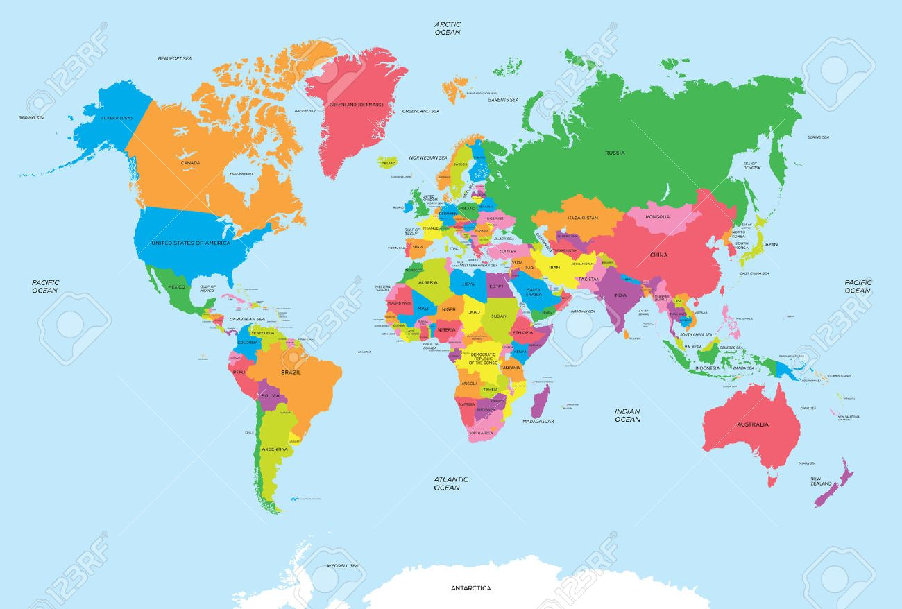 Political map of the world vector - 47274571