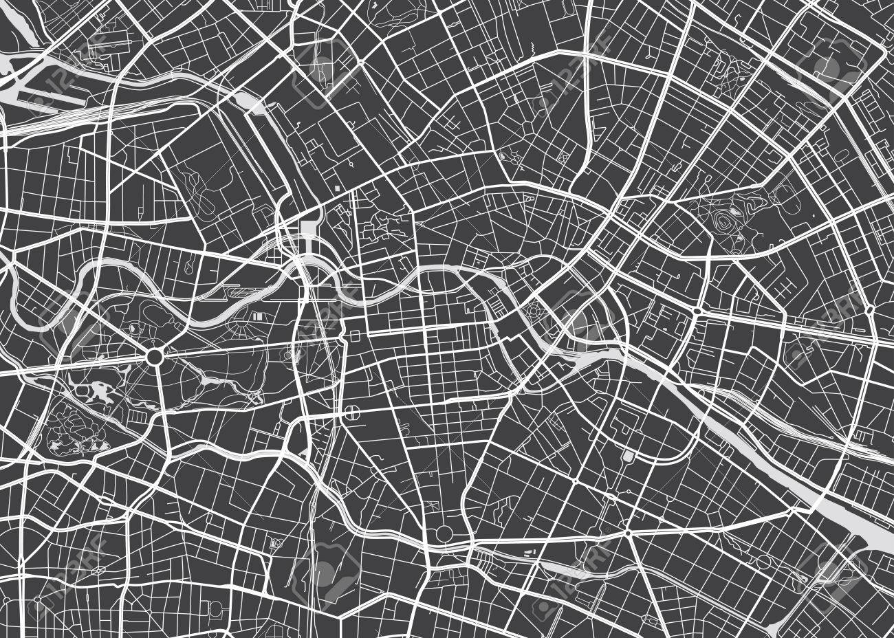 Vector detailed map Berlin - 70130392