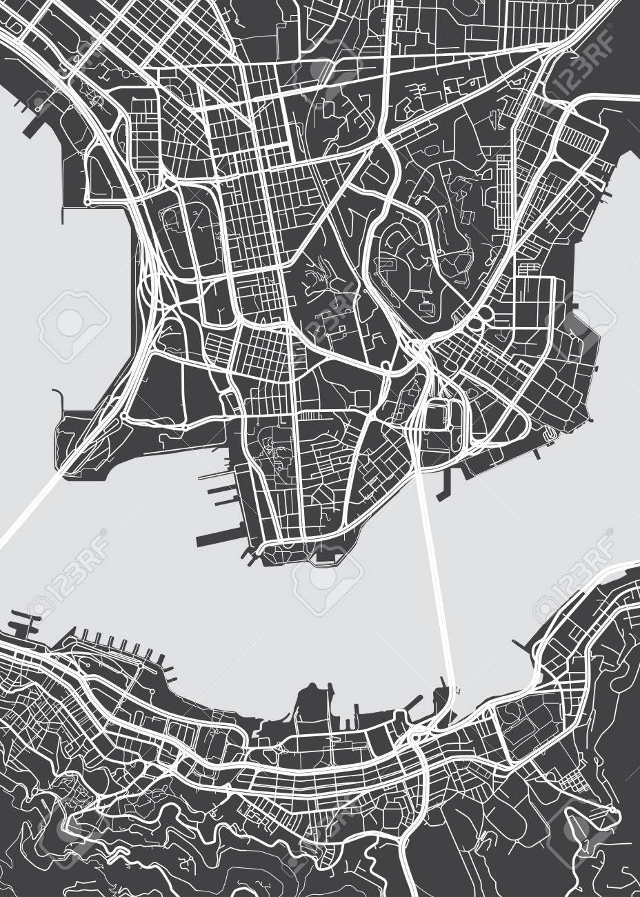 Vector detailed map Hong Kong - 70130396