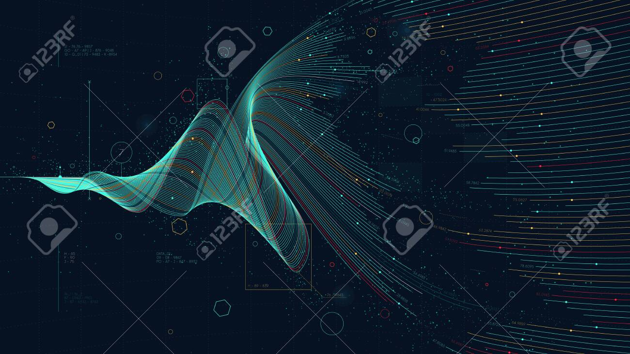 Futuristic business analytics big data visualization digital, financial investment and economic growth concept for financial presentation - 123721482