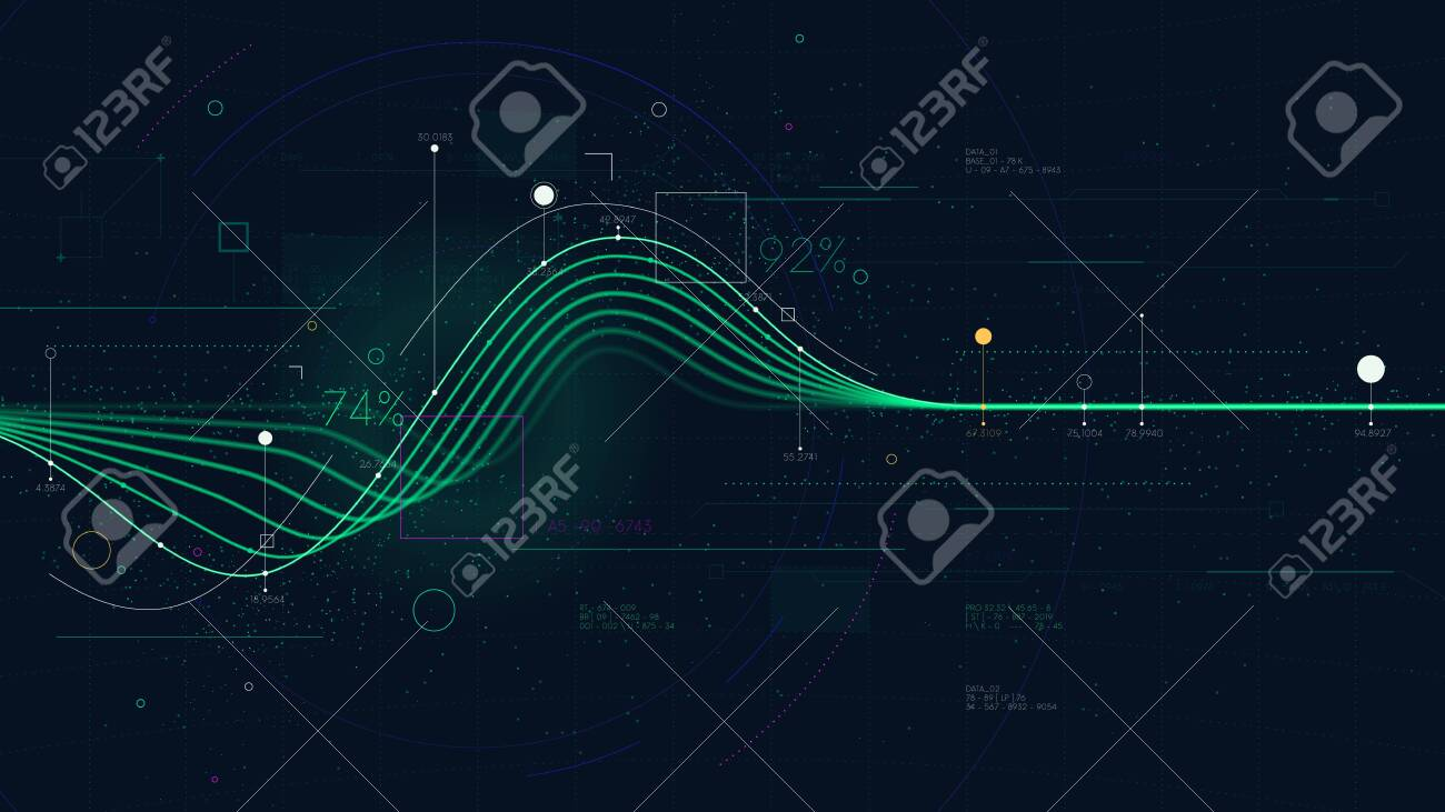 Information graph data showing flow of financial resources, business Intelligence dashboard, creative concept for presentation for financial presentation - 123721487