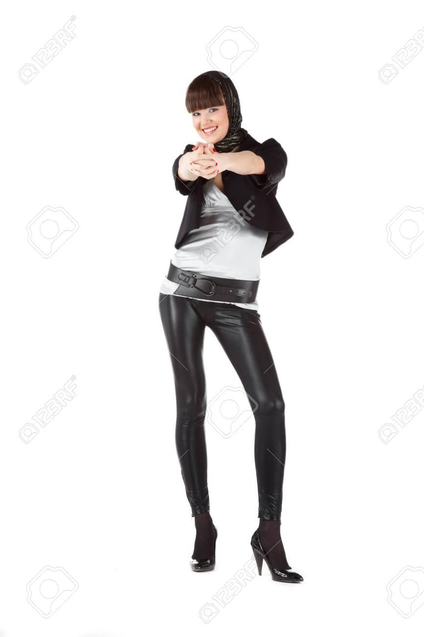 Beautiful Woman In Black Stock Photo - 8445524
